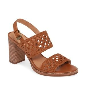 NEW Madewell Basket Weave Sandals Brown 7